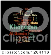Clipart Of A Colorful KHORASAN ISIS And Al Qaeda Word Collage On Black Royalty Free Illustration