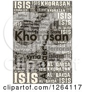 Clipart Of A Grungy KHORASAN ISIS And Al Qaeda Word Collage Royalty Free Illustration by oboy