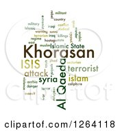 Clipart Of A Green KHORASAN ISIS And Al Qaeda Word Collage On White Royalty Free Illustration by oboy