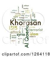 Green Khorasan Isis And Al Qaeda Word Collage On White