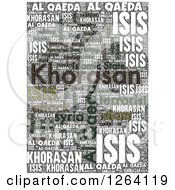 Clipart Of A Grungy KHORASAN ISIS And Al Qaeda Word Collage Royalty Free Illustration