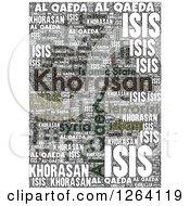 Grungy Khorasan Isis And Al Qaeda Word Collage