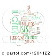 Clipart Of An ISIS And Al Qaeda Word Tag Collage On White Royalty Free Illustration by oboy