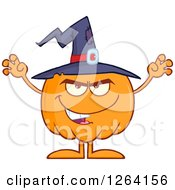 Clipart Of A Scary Witch Pumpkin Character Royalty Free Vector Illustration