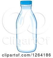 Clipart Of A Milk Bottle Royalty Free Vector Illustration by Hit Toon