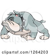 Clipart Of A Tough Gray Bulldog Royalty Free Vector Illustration by Dennis Holmes Designs