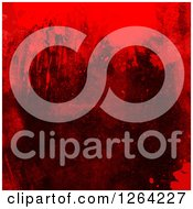 Clipart Of A Grunge Texture With Blood Splatters Royalty Free Illustration