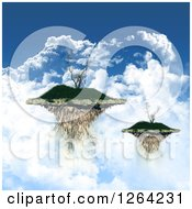Clipart Of 3d Floating Islands With Trees And Clouds Royalty Free Illustration by KJ Pargeter
