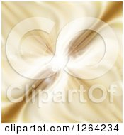Clipart Of A Gold Explosion With Flares Royalty Free Vector Illustration