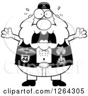 Clipart Of A Black And White Scared Chubby Biker Dude Screaming Royalty Free Vector Illustration by Cory Thoman