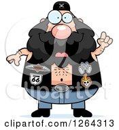 Chubby Caucasian Biker Dude With An Idea