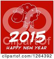 Happy New Year 2015 Sheep Chinese Zodiac Design