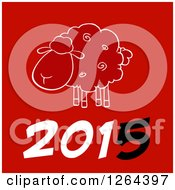 Year 2015 Sheep Chinese Zodiac Design
