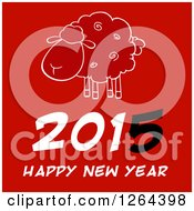 Clipart Of A Happy New Year 2015 Sheep Chinese Zodiac Design Royalty Free Vector Illustration