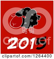 Clipart Of A Year 2015 Sheep Chinese Zodiac Design Royalty Free Vector Illustration