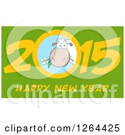 Clipart Of A Happy New Year 2015 Sheep Chinese Zodiac Design Royalty Free Vector Illustration by Hit Toon