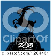 Clipart Of A Year Of The Sheep Mountaintop Goat 2015 Design Royalty Free Vector Illustration by Hit Toon