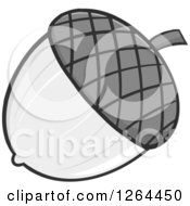 Clipart Of A Grayscale Acorn Royalty Free Vector Illustration by Hit Toon