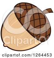 Clipart Of A Brown Acorn Royalty Free Vector Illustration by Hit Toon