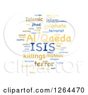 Clipart Of An ISIS And Al Qaeda Word Tag Collage On White Royalty Free Illustration