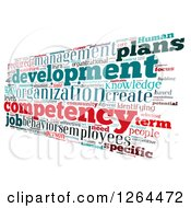 Clipart Of An Angled Competency Business Word Collage On White Royalty Free Illustration