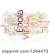 Clipart Of A Colorful Ebola Virus Word Tag Collage On White Royalty Free Illustration