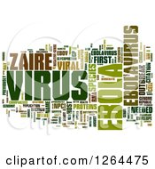 Green Ebola Virus Word Tag Collage On White