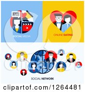 Clipart Of Social Network Social Media And Online Dating Designs Royalty Free Vector Illustration by elena