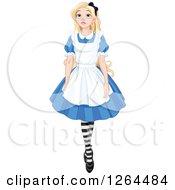 Alice In Wonderland Walking And Looking Upwards