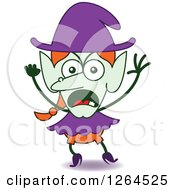 Clipart Of A Furious Halloween Witch Royalty Free Vector Illustration