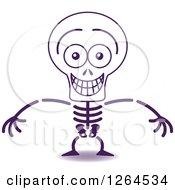 Halloween Skeleton Grinning From Embarrassment