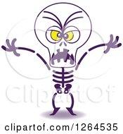 Halloween Skeleton Being Scary