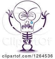 Sad Halloween Skeleton Crying