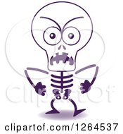 Clipart Of A Furious Halloween Skeleton Royalty Free Vector Illustration by Zooco