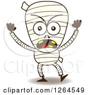 Clipart Of A Furious Halloween Mummy Royalty Free Vector Illustration