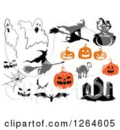 Clipart Of Halloween Designs Royalty Free Vector Illustration by Vector Tradition SM