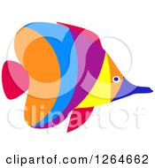 Clipart Of A Colorful Marine Butterflyfish Royalty Free Vector Illustration