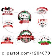 Clipart Of Casino And Playing Card Designs Royalty Free Vector Illustration