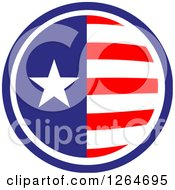 Clipart Of A Patriotic American Stars And Stripes Circle Royalty Free Vector Illustration
