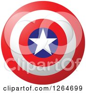 Clipart Of A Patriotic American Stars And Stripes Target Royalty Free Vector Illustration