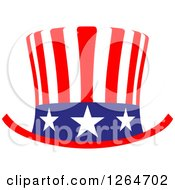 Clipart Of A Patriotic American Stars And Stripes Top Hat Royalty Free Vector Illustration by Vector Tradition SM