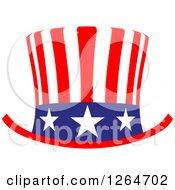 Patriotic American Stars And Stripes Top Hat