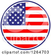 Clipart Of A Patriotic American Stars And Stripes Flag Circle Royalty Free Vector Illustration by Vector Tradition SM