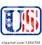 Clipart Of A Patriotic American Stars And Stripes US Design Royalty Free Vector Illustration
