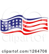Clipart Of A Patriotic American Stars And Stripes Flag Royalty Free Vector Illustration by Vector Tradition SM