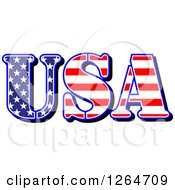Clipart Of A Patriotic American Stars And Stripes USA Design Royalty Free Vector Illustration