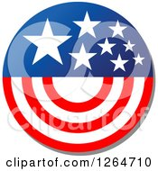 Clipart Of A Patriotic American Stars And Stripes Circle Royalty Free Vector Illustration by Vector Tradition SM