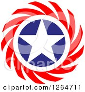 Clipart Of A Patriotic American Stars Circle With Spirals Royalty Free Vector Illustration by Vector Tradition SM