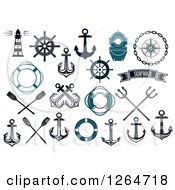 Clipart Of Nautical Items Royalty Free Vector Illustration