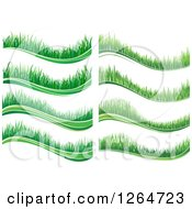 Clipart Of Wavy Green Grass Borders Royalty Free Vector Illustration